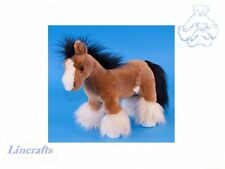 Small Shire Horse Plush Soft Toy by Dowman Soft Touch. RB553