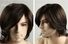 FIXSF151 pretty short brown hair wigs for man wig