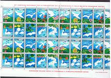 FIAMMIFERI ITALIA ITALIA ANTI TBC Campagna Natura uccelli pesci FOGLIO COMPLETO DI 40 Mint