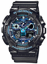 *NEW* CASIO MENS G SHOCK BLUE CAMO WATCH OVERSIZE XL GA-100CB-1AER 1ADR  RRP£129