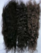 WIG WEFT/REBORN MOHAIR DOLL/TROLL/PUPPET/THEATRE HAIR WAVY - BROWN TRIO  15GRAMS