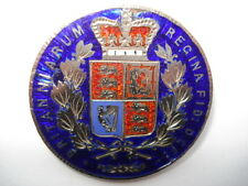BEAUTIFUL 4 COLOUR HAND ENAMELLED 1845 QUEEN VICTORIA CROWN COIN