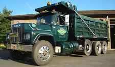 "87 MACK RD DUMP TRUCK TRI-AXLE 43"" x 24""  LARGE GLOSS HD SHOP POSTER"