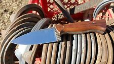 Hand forged farriers rasp knife with teak handle