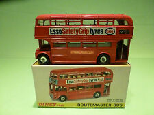 DINKY TOYS 289 ROUTEMASTER BUS - ESSO TYRES - RARE SELTEN - GOOD COND.IN BOX
