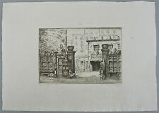 A. DONIPHAN ETCHING__Vintage 1917__'The Antique Shop'__Signed__ExC_SHIPS FREE