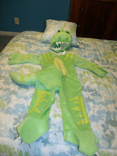 TODDLER GREEN/YELLOW DINOSAUR HALLOWEEN COSTUME EUC