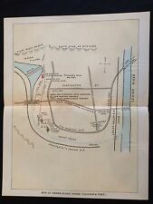 1896 color map Pennsylvania FRONTIER FORT Kerns Block House Trucker's Slatington