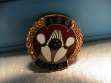 BOWLING BALL ALLEY TOURNAMENT AWARD 150 CLUB LAPEL PIN PINBACK WITH CLASP NICE!