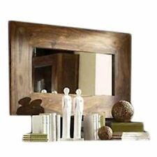 KraftNDecor Wooden Mirror Frame in Brown Colour