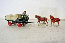 Preiser 30446 Horse Drawn Wagon w/Tarpaulin And Two Figures  C-9 NIB