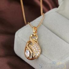 Fashion Crystal Necklace Woman Diamante 18k Gold Filled Pendant Chain Jewelry