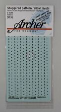 Archer G-Scale Staggered Rivets for Box & Refrigerator Rail Cars AR88111