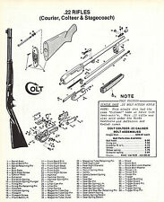 1995 COLT Colteer & Stagecoach RIFLE Schematic Exploded View Parts List AD