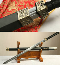 "42"" CARBON STEEL HANDMADE FULL TANG BLADE BLACK DRAGON CHINESE SWORD(汉剑)"