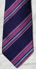 HOLLAND AND SHERRY 100% SILK MENS NECK TIE STRIPED HAND MADE - NEW