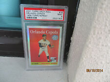 2001 TOPPS ARCH RES REF..PSA  9 MINT NQ...#16  1958 TOPPS ...ORLANDO CEPEDA  .RC