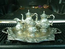 STUNNING ITALIAN MILANESE STERLING SILVER TEA COFFEE SET WEIGHING 124.34 TROY OZ