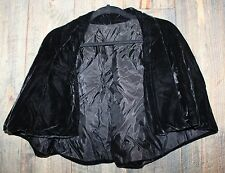 Antique Ladies Black Victorian Velvet Cap Capelet Shawl