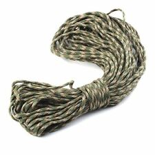 25ft  #077Mil Type III Stand 7 Cores Paracord Parachute Cord Lanyard Camouflage