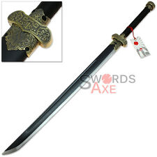 Chinese-style Gongfu Dao Single Edged Broadsword Saber Full Tang Carbon Steel
