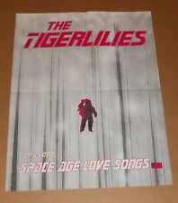 The Tigerlilies Space Age Love Songs Poster Original Promo 17x22
