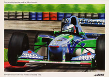 Michael Schumacher Benetton-Cosworth B194 by W Lubach Open Edition Mini Print
