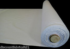 """100% 59"""" Cotton Calico Fabric Black White Natural Medium Weight 145gsm By Metre"""