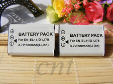 2X EN-EL11 replacement Camera Battery for Nikon MH-64 Charger S550 S560