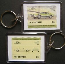 1966 OLDSMOBILE TORONADO Car Stamp Keyring (Auto 100 Automobile)