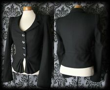 Gothic Black Fitted REQUIEM Detailed Tailored Jacket 10 12 Victorian Steampunk