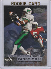 RANDY MOSS Fleer Metal ROOKIE CARD Mashall 1998 Football RC Vikings Pats 49ers