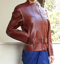 Genuine SPORTMAX by MAX MARA Leather Jacket  size 8 USA,10 GB,38 D,42 I, 40 F