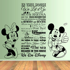 HUGE In This House We Do Disney Style Quote Rules Vinyl Wall Art Sticker Mural