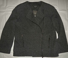 TOPSHOP JACKET, TWEED LOOK BLACK/WHITE, GENEROUSLY CUT SIZE 8, NWT