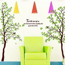 Removable Home Decal Decor Art Spring Couple Tree Vinyl Wall Stickers Wallpaper