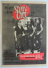 STRAY CATS 1981 Poster Ad GONNA BALL built for speed