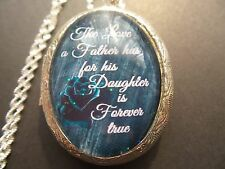 TEAL ROSE THE LOVE A FATHER HAS FOR HIS DAUGHTER IS FOREVER TRUE LOCKET