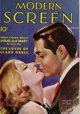 MODERN SCREEN MAGAZINE 1930-1960 DVD early movie stars advertisement 250 issues