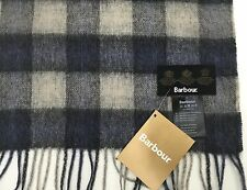 Barbour Tattersall Check Scarf Cashmere / Lambswool Blue