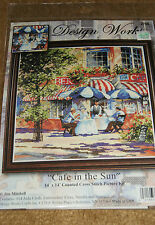 "Counted Cross Stitch Kit: ""Cafe In The Sun ""  ~ Design Works"
