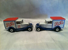 """Two (2)1979 Matchbox Model A Ford Pepsi Trucks"""" Come Alive"""" Gently Used"""