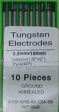 10 Electrodos Tungsteno PURO para Soldadura TIG 3,2 x150 mm EWP VERDE - Soldador