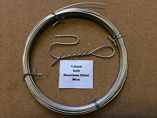 1.6mm x 10m 16SWG SOFT Stainless Steel Wire Locking Craft Safety Tying Sculpting