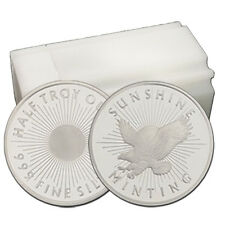1/2 oz Sunshine Minting .999 Fine Silver Round --Tube of 20