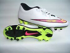 Nike Mercurial Vortex white pink Yel football  soccer sport shoes 46 47 48 12 13