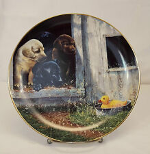"Danbury Mint OPENING DAY The Sportsmen Lab Puppies Lab 8"" Plate by Philip Crowe"
