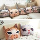 3D Cute Cat Dog Face Throw Pillow Decor Cushion Toy Doll #A Soft Foam Particle