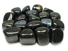 TUMBLED - (1) LG/XL BLACK ONYX Crystal w/Description Card - Healing Reiki Stone