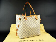 Auth [Mint] LOUIS VUITTON Neverfull MM N51107 Tote Bag Azur w/Bag (Used) 41858